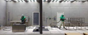 Glasblæsning og oliebehandling af rustfri stål og aluminium